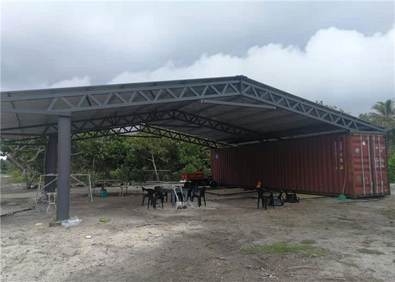 Custom Q345 Steel Farm Sheds With 50mm EPS Sandwich Panel